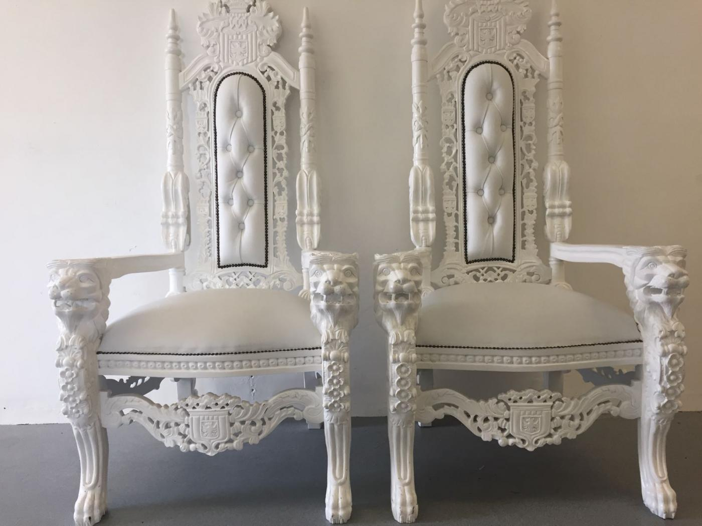 pair of throne chairs