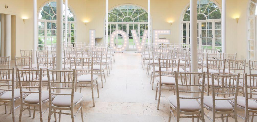 limewash chiavari chair ceremony layout