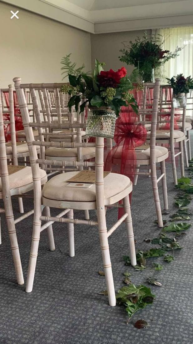 chiavari chair ceremony at Barnham Broom