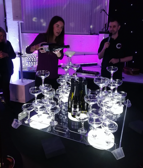 Corporate Champagne Tower Norwich