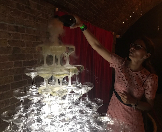 Gatsby Champagne Tower