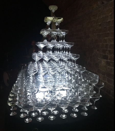 Champagne Tower Hire Colchester