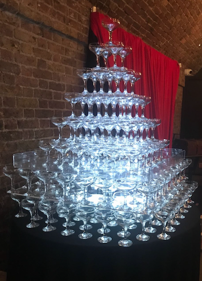 West end Champagne Tower Hire