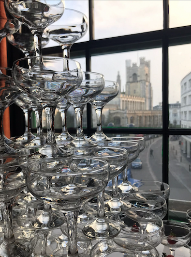 Champagne Tower Hire Cambridge