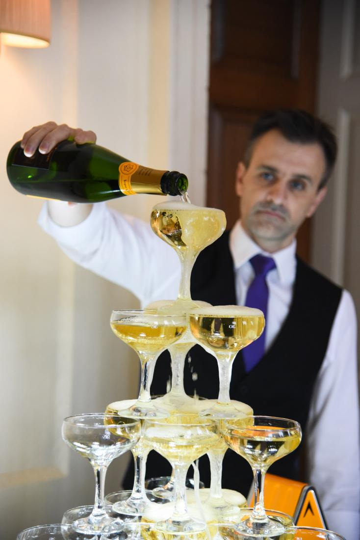 56 x glass champagne tower