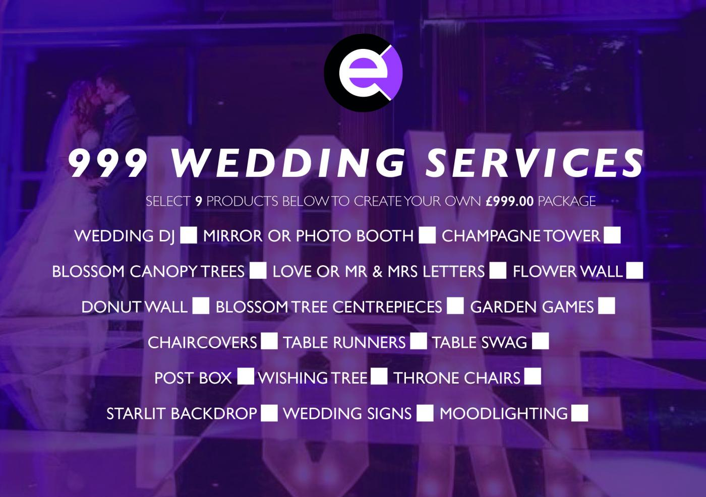 Connections wedding 999 services