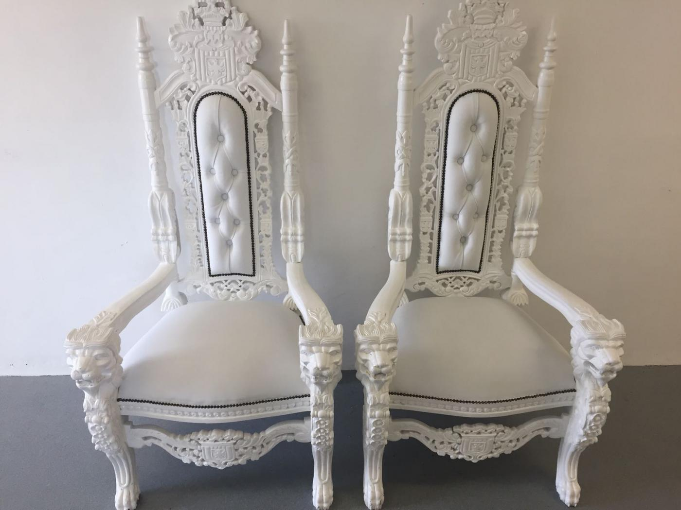 White Throne Chairs for weddings in Norwich