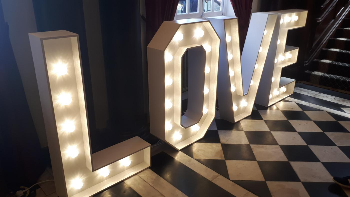Giant LOVE Letters at St Giles House Hotel, Norwich