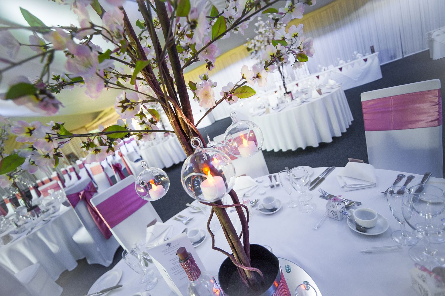 blossom tree centrepiece at sprowston manor, norwich