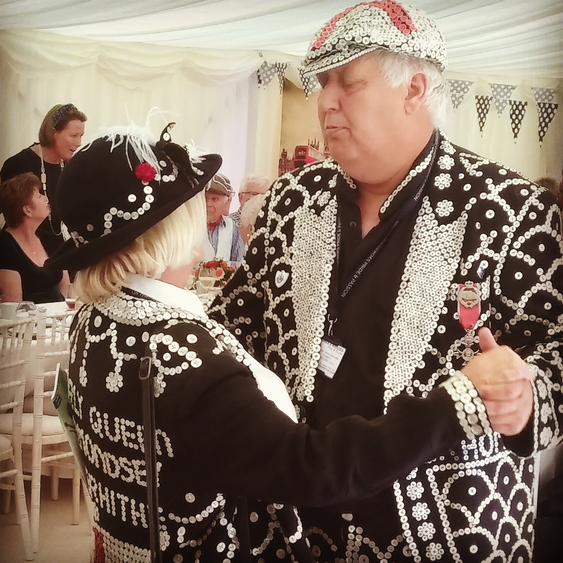 Pearly Kings & Queens at a themed event