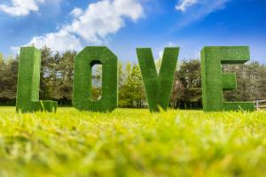 Grass LOVE Letters